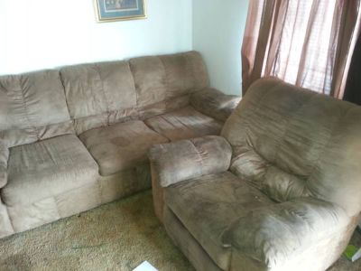 couches brown microfiber  recliner  couch