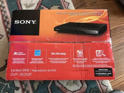 New open box Sony DVD player remote included
