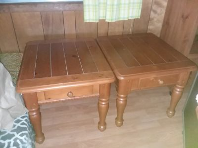 All wood end tables