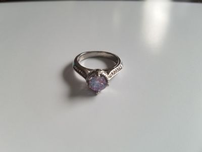 Light Amethyst Sapphire Sterling Silver Engagement Ring - Size 7