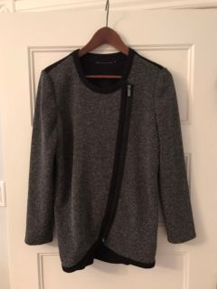 Classy blazer grey front with black back and sleeves