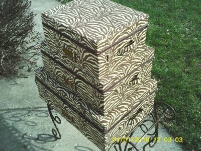 3 SHEEFIELD HOME STORAGE CASES