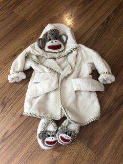 Baby robe and slippers