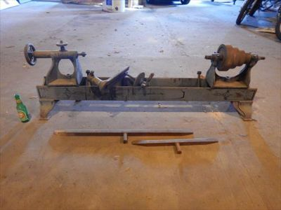 Antique Flatbelt Lathe