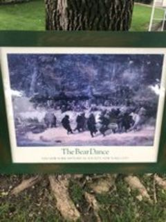 Large framed picture The Bear Dance