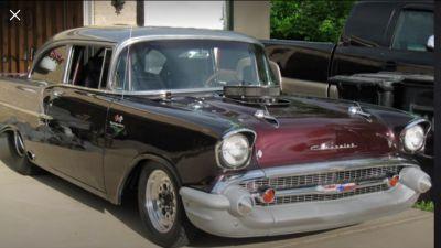 BLOWN PRO STREET 1957 CHEVY TRADE FOR NOVA CAMARO TRADE &nbs