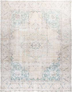 """Vintage, Hand Knotted Area Rug - 9' 8"""" x 12' 4"""""""