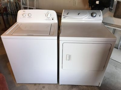 Washer and dryer, washer is less than year old...daughter moved and doesn't need. Dryer is maytag,legacy series, heavy duty 10 cycle