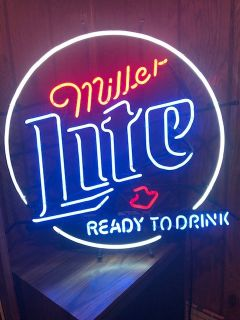 Miller Lite Neon Beer Sign