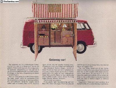 1963 4 Page Bus Sales Brochure Campmobile Camper