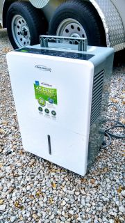 Soleusair portable dehumidifier. It has wheels for easy moving. In good condition. Cross posted.