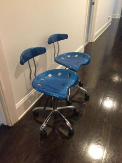 Blue desk/office adjustable chairs