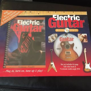 Learning guitar DVD and book set new