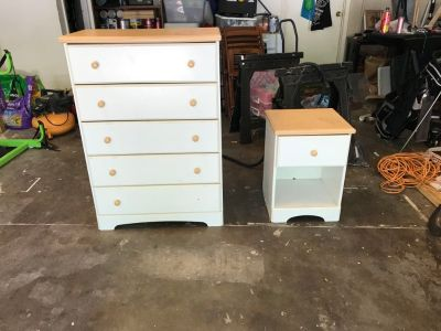 Nightstand and Dresser