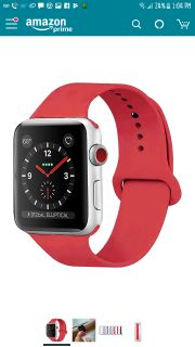Brand new GreenSil Apple Watch Band 42mm 38mm with Soft Silicone Replacement Strap, Women and Men Apple Watch Sport Band, Series 3, Series 2