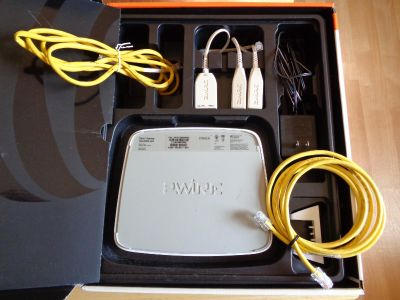 AT+T Router, Cables, Power Supply, etc.