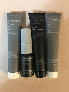 BRAND NEW LIVING PROOF LOT OF 4 LARGE DELUXE SAMPLE SIZE HAIRCARE