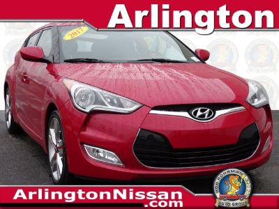 2017 Hyundai Veloster Base (Red Metallic)
