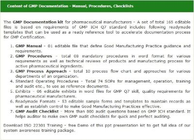 GMP Manual Document - Free Download