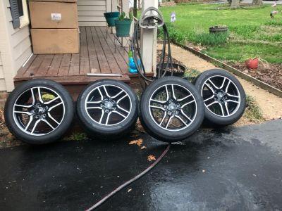 2018 Mustang Take-off wheels & tires