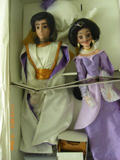 Aladdin and Jasmine 17 inch Collector Porcelain Doll Linda Larkin Walt Disney