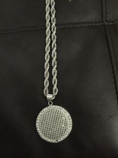 Rope chain with Pendent stainless steel $45