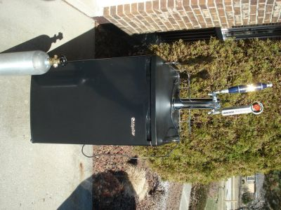 kegerator/refrigerator includes 2 CO2 tanks/tapper - moving