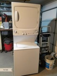 GE washer dryer stack stackable