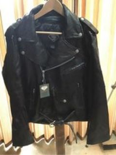 Men s Leather Motorcycle Jacket NEW