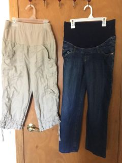 Maternity Capris and Jeans Size Small