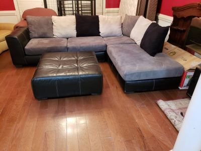 Sectional Couch With Large Ottoman!