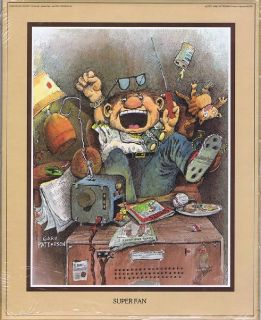 "Gary Patterson Print ""SUPER FAN"" 1980 Thought Factory # 81095 - in Sealed Wrap"