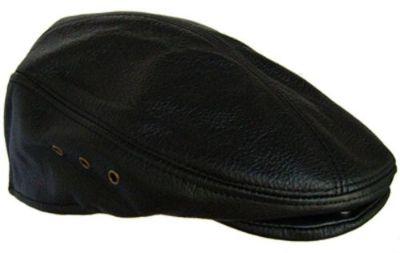 Purchase Genuine Leather XLarge Black Newsboy Gatsby Cabbie Flat Driver Ascot Hat Cap motorcycle in Bemidji, Minnesota, United States, for US $20.99