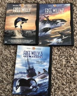 3 Free Willy DVD s