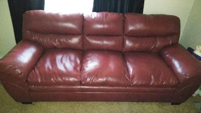 Red leather sofa set brand new