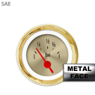 Purchase Fuel level Gauge - American Classic Gold IX, Red Vintage Needles, Gold Trim motorcycle in Portland, Oregon, United States, for US $36.00