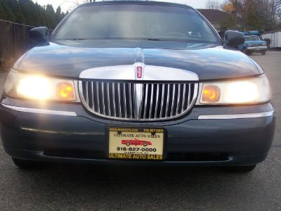 1998 Lincoln Town Car STRECH LIMOUSINE (Med Charcoal Blue (CC/Met))