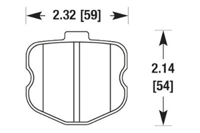 Find HAWK HB532N.570 - 06-07 Chevy Corvette Rear Brake Pads motorcycle in Chino, California, US, for US $120.97