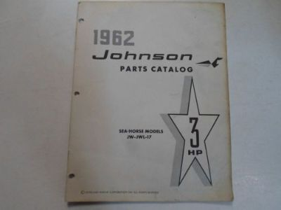 Buy 1962 Johnson 3 HP Sea Horse Models JW JWL 17 Parts Catalog Manual STAINED OEM 62 motorcycle in Sterling Heights, Michigan, United States, for US $14.95
