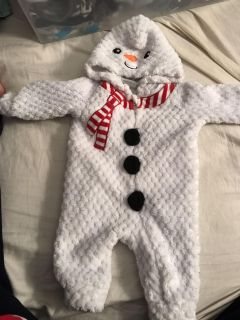 Baby snowman outfit 0-3