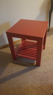 red red red side table