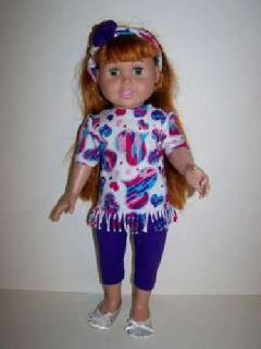 Doll Clothes - Knit top, Leggings and Headband