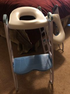 Qty 2 - Padded Potty Seat with Step Stool