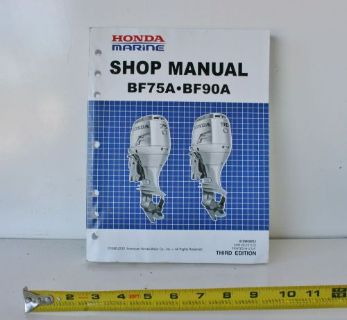 Find Third Edition HONDA Marine Outboard Service Shop Manual 61ZW000E3 BF75A BF90A motorcycle in Daytona Beach, Florida, United States, for US $69.99