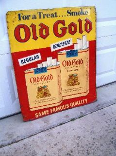 $325, Larger Old Gold Advertising Wall Sign