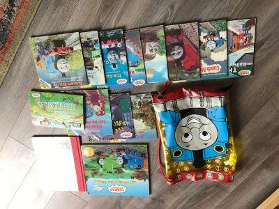 14 Thomas the train books plus thomas book bag