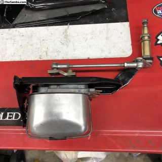 Restored Porsche 911 rear window wiper assembly
