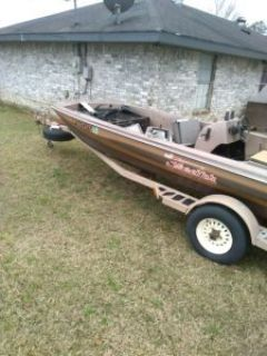 16 ft bass boat with trailer & a parts boat with trailer and extra motor