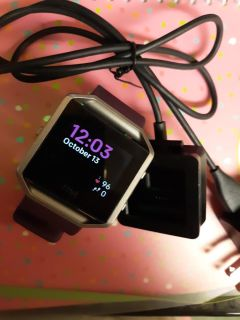 Fitbit Blaze and charging case