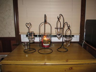 Wrought Iron Candle holders - reduced